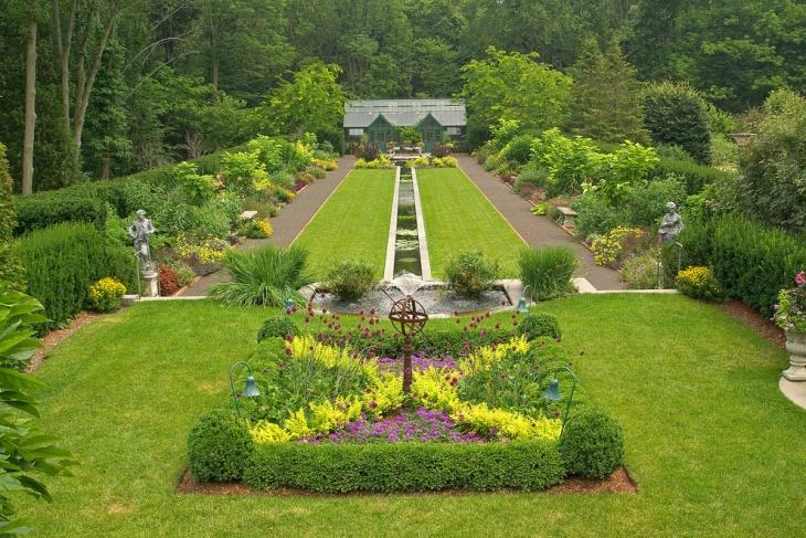 18+ Formal Garden Designs, Ideas   Design Trends - Premium ... on Large Backyard Design id=96587