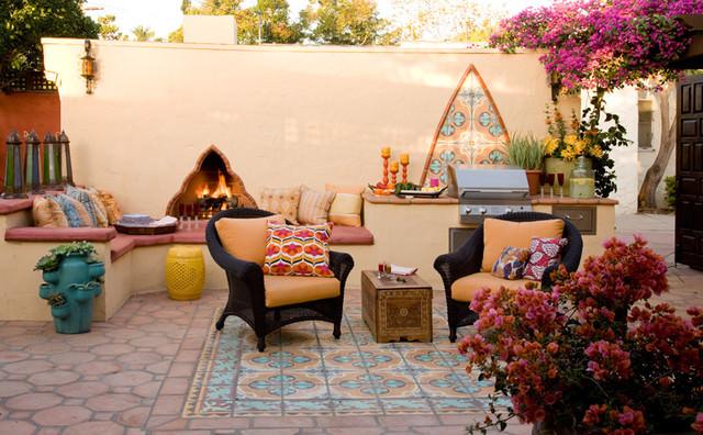 18+ Moroccan Patio Design, Decorating Ideas | Design ... on Moroccan Backyard Design  id=83329