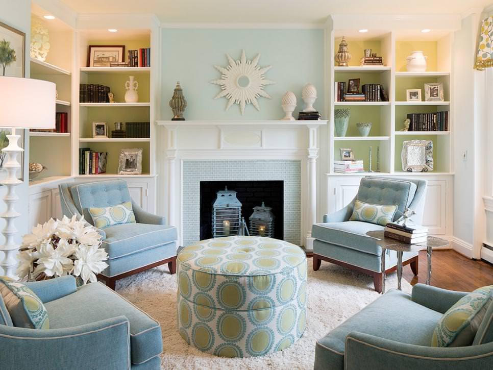 21+ Green Living Room Designs, Decorating Ideas