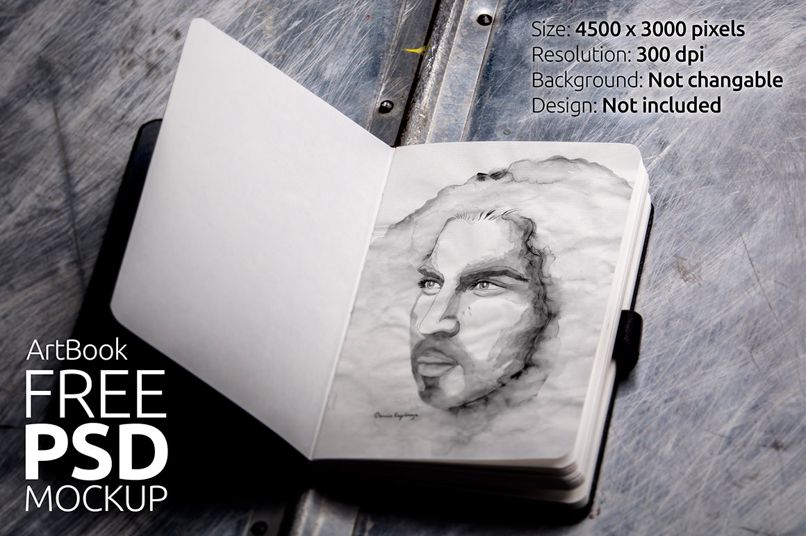 Photorealistic Sketchbook Mockup