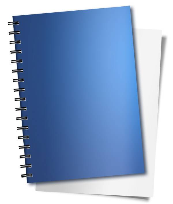 Blue Spiral Notebook Mockups