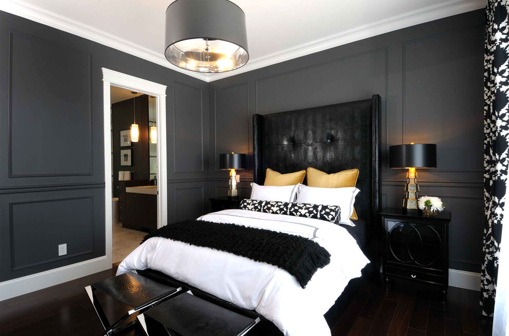 25 Black Bedroom Designs Decorating Ideas Design