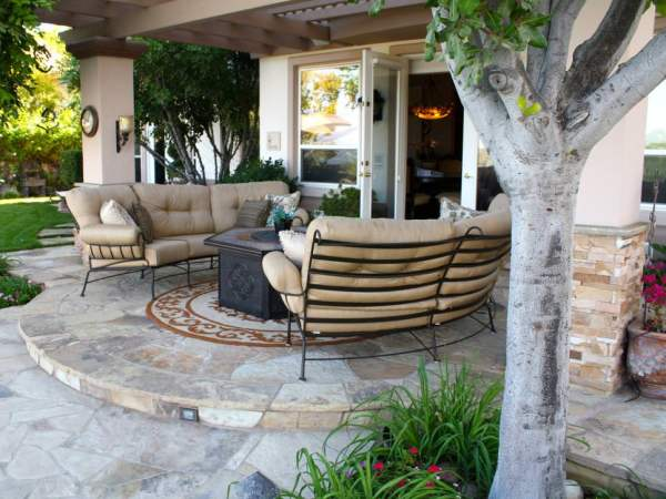 backyard stone patio design ideas 30+ Patio Designs, Decorating Ideas | Design Trends