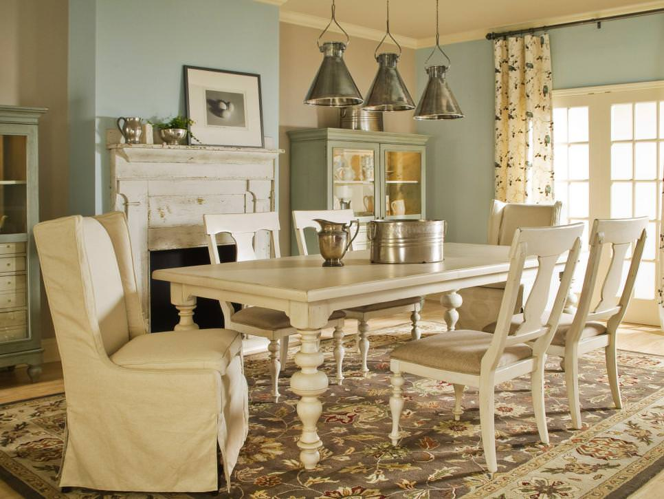Table French Round Chairs Country And Upholstered