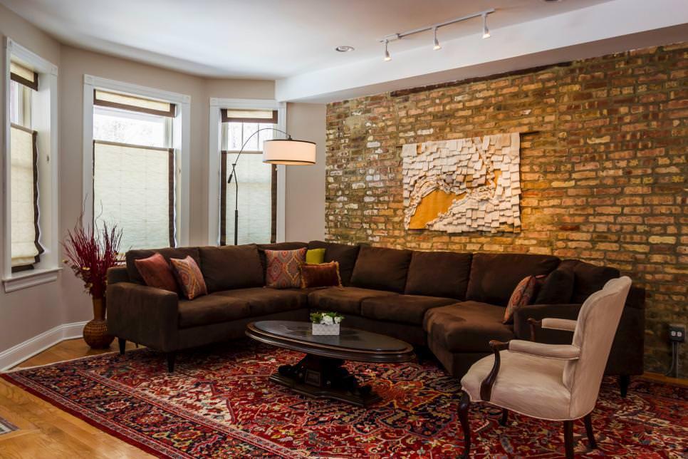 25+ Brick Wall Designs, Decor Ideas For Living Room ... on Brick Wall Decorating Ideas  id=77036