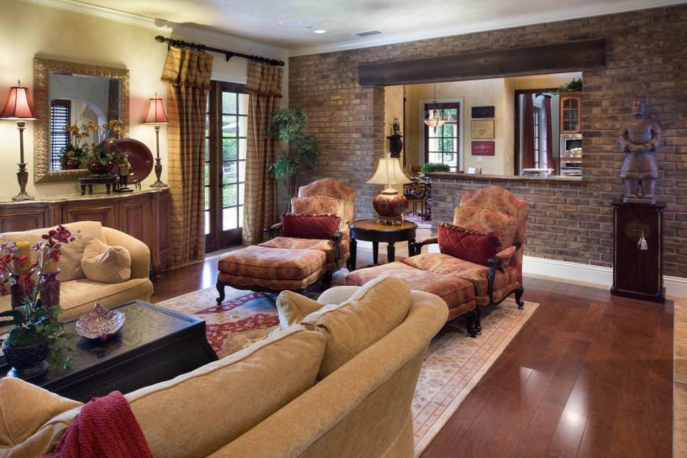 25+ Brick Wall Designs, Decor Ideas For Living Room ... on Brick Wall Decorating Ideas  id=96357