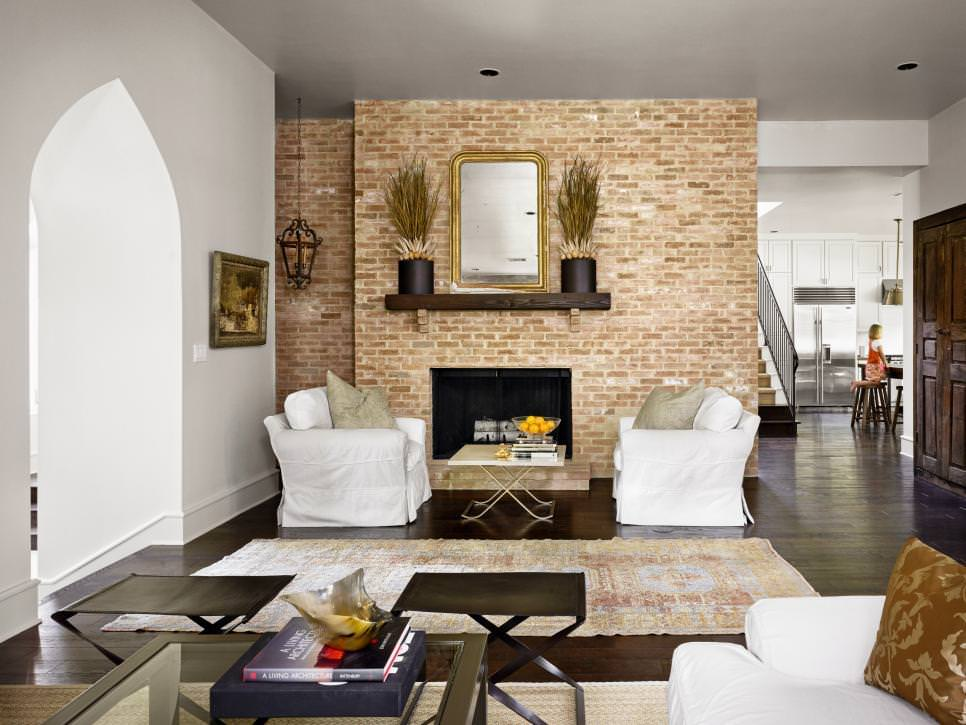 25+ Brick Wall Designs, Decor Ideas For Living Room ... on Brick Wall Decorating Ideas  id=90878