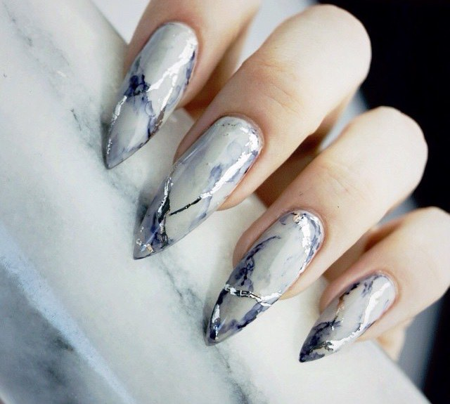 Pointed French Manicure