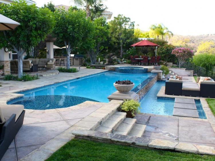 20+ Backyard Patio Designs, Decorating Ideas | Design ... on Pool Deck Patio Ideas  id=80554