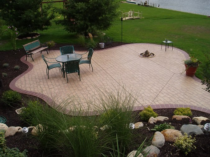 20+ Backyard Patio Designs, Decorating Ideas | Design ... on Backyard Concrete Patio Designs  id=89523