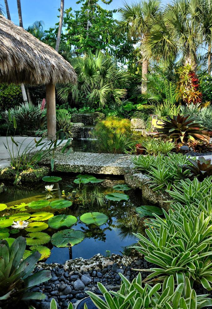 24+ Tropical Garden Designs, Decorating Ideas | Design ... on Tropical Backyard Landscaping  id=15645