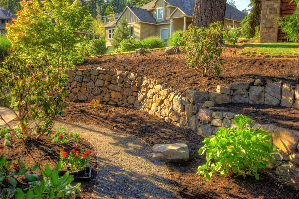 24+ Rock Wall Garden Designs, Decorating Ideas | Design ... on Garden Patio Wall Ideas id=40392
