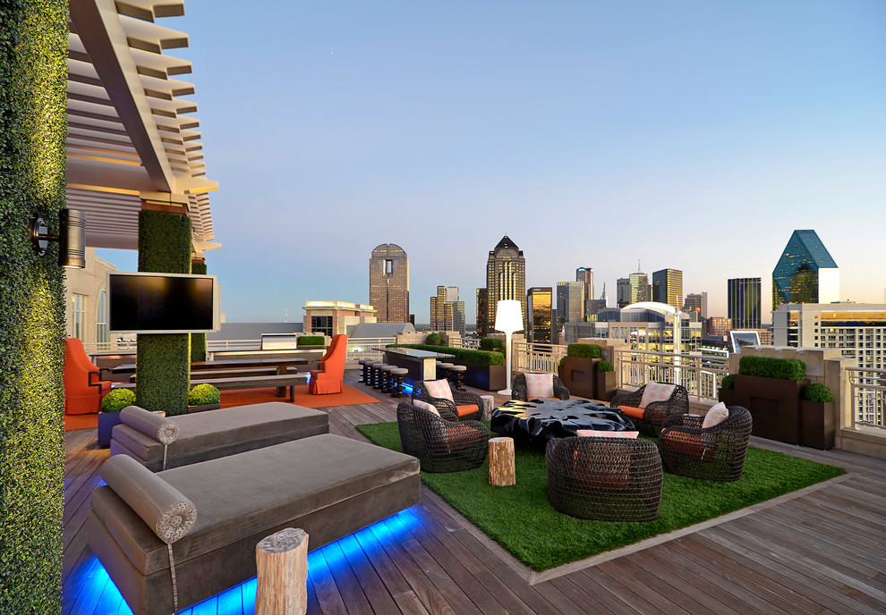 18+ Roof Top Garden Designs, Decorating Ideas | Design ... on Patio Top Ideas id=66653