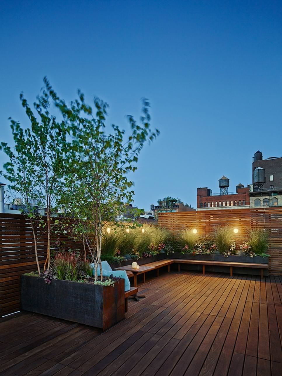 18+ Roof Top Garden Designs, Decorating Ideas | Design ... on Backyard Patio Landscaping id=91232