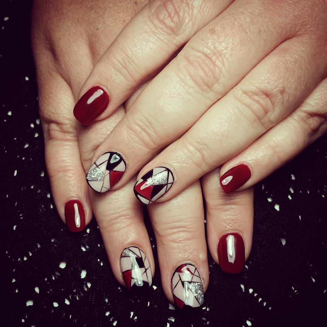 Dark Red Nails For White Skin