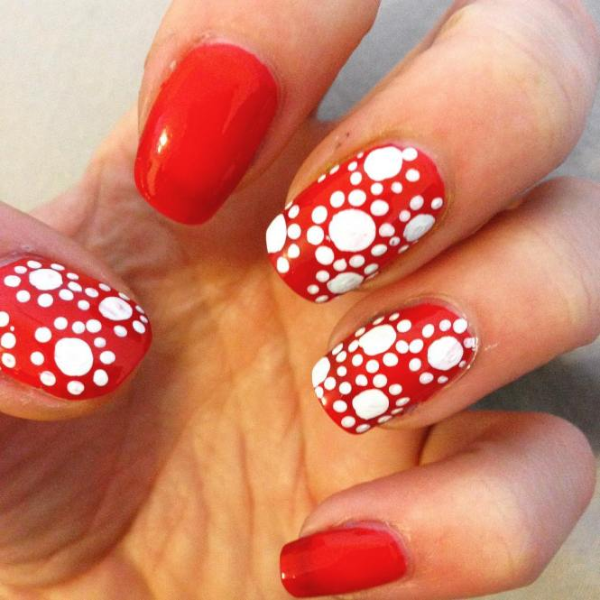 Red Nail Polish Design Ideas