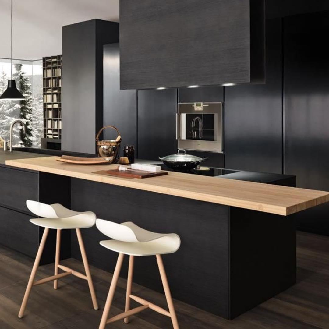 24+ black kitchen cabinet designs, decorating ideas | design trends