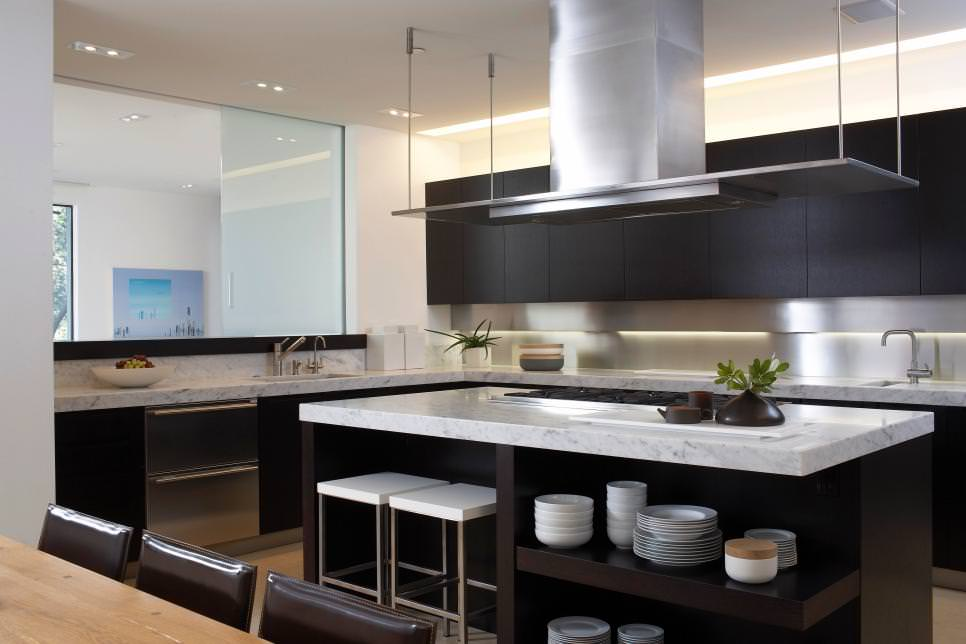 24+ Black Kitchen Cabinet Designs, Decorating Ideas ... on Images Of Modern Kitchens  id=72405