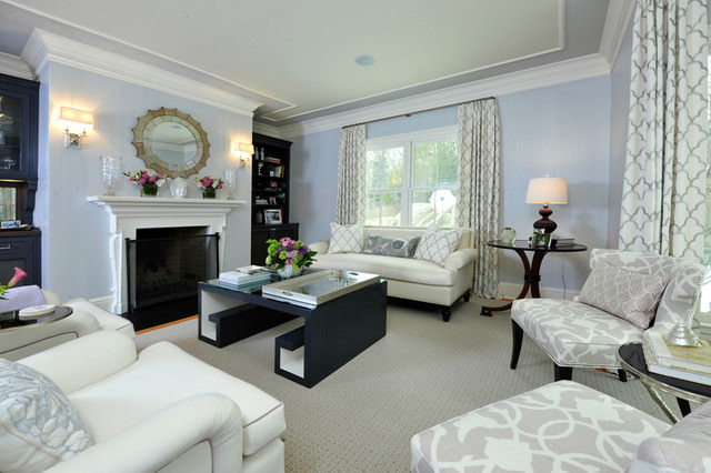 19+ Light Blue Living Room Designs, Decorating Ideas