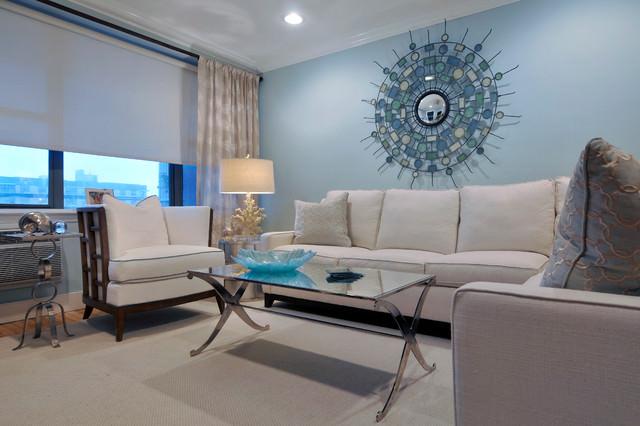 Blue Living Room Ideas Carpet Light Sofa Wall Small Table Storage Curtain