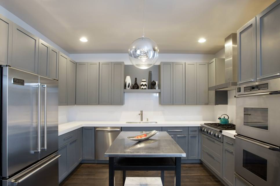 Shaker kitchen cabinets, especially white one gives the impression of effortlessness and fresh look. 22+ Grey Kitchen Cabinets Designs, Decorating Ideas | Design Trends - Premium PSD, Vector Downloads