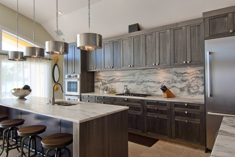 Because this is a small kitchen, the cabinets are in matte white and uses black granite countertop for a little contrast. 22+ Grey Kitchen Cabinets Designs, Decorating Ideas | Design Trends - Premium PSD, Vector Downloads
