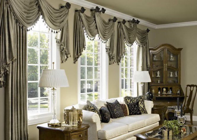Living Room Elegant Curtains Modern Home Decorating Gallery Photos