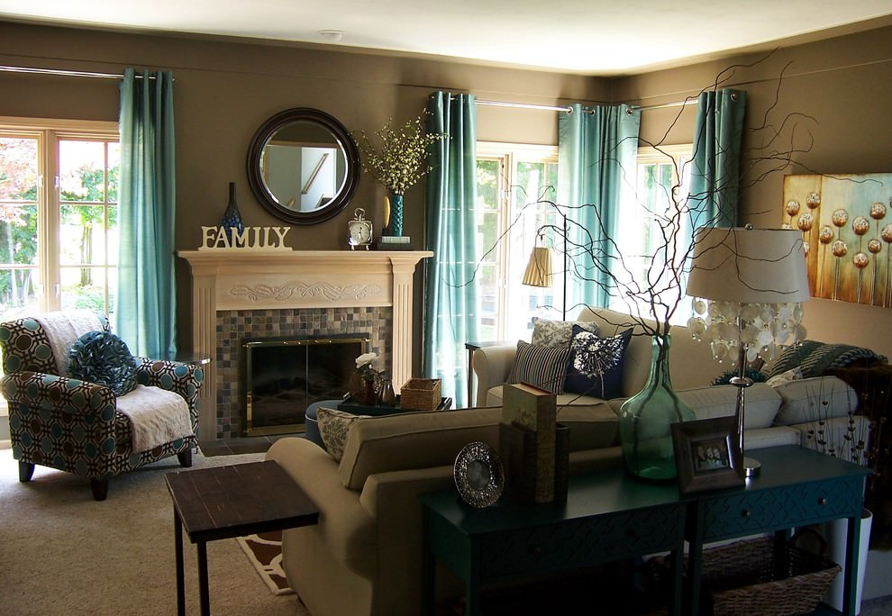 22 Teal Living Room Designs Decorating Ideas Design Trends Part 47