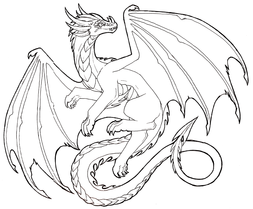 Friendly Outline Dragon