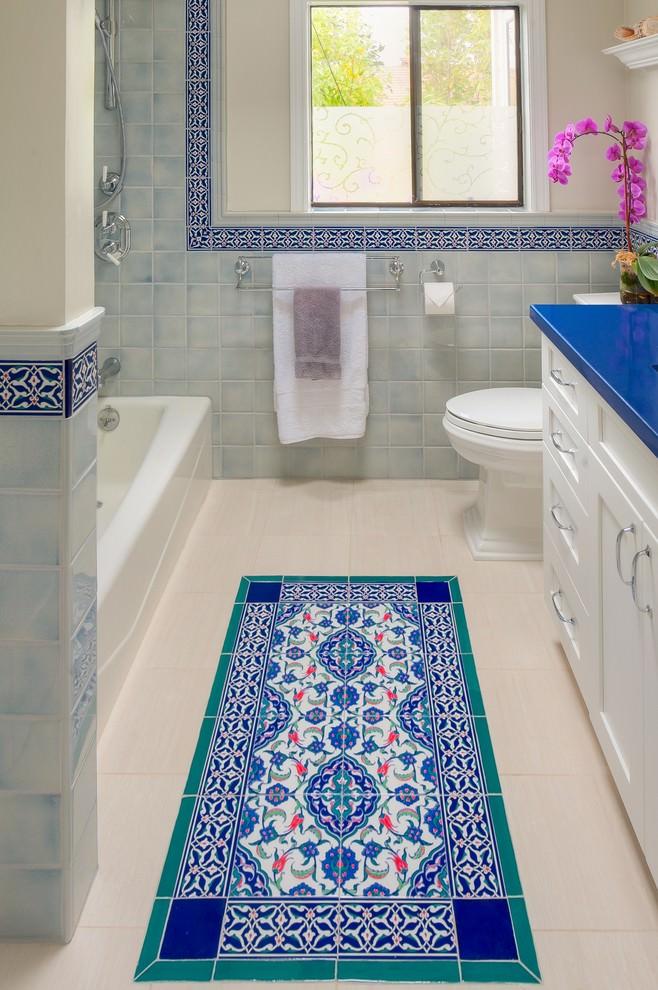 25+ Bathtub Tile Designs, Decorating Ideas   Design Trends ... on Bathroom Tile Pattern Design  id=57181