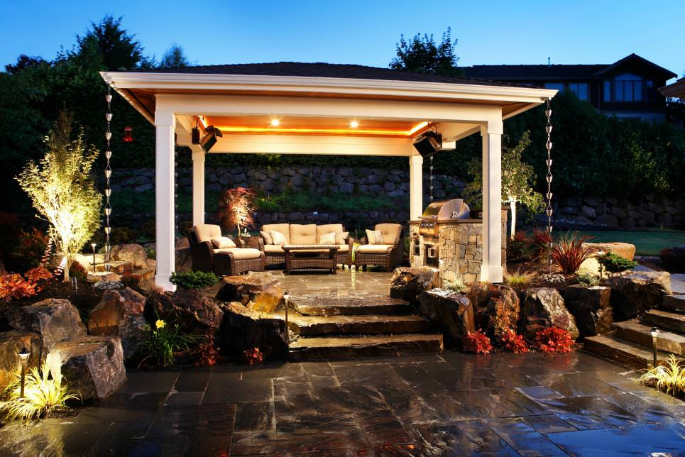 22+ Patio Cover Designs, Ideas, Plans   Design Trends ... on Backyard Covered Patio Designs id=32013