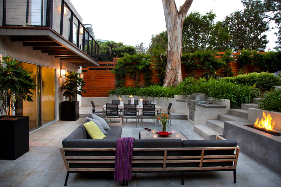 25+ Concrete Patio Outdoor Designs, Decorating Ideas ... on Best Backyard Patio Designs id=45059