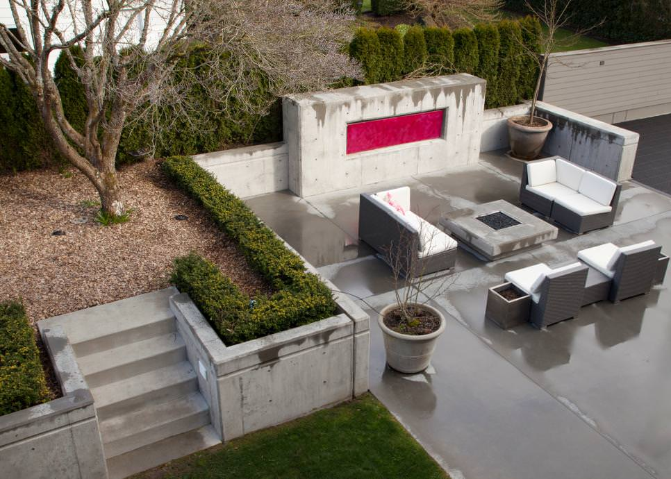 25+ Concrete Patio Outdoor Designs, Decorating Ideas ... on Backyard Concrete Patio Designs  id=12248