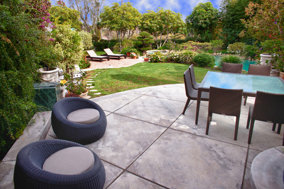 25+ Concrete Patio Outdoor Designs, Decorating Ideas ... on Backyard Concrete Patio Designs  id=82061