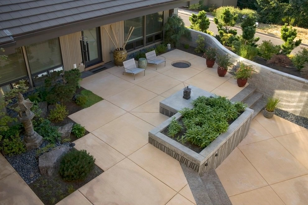 25+ Concrete Patio Outdoor Designs, Decorating Ideas ... on Best Backyard Patio Designs id=99562