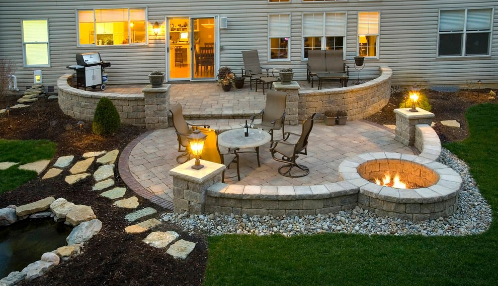 24+ Paver Patio Designs | Garden Designs | Design Trends ... on Small Backyard Brick Patio Ideas  id=46286