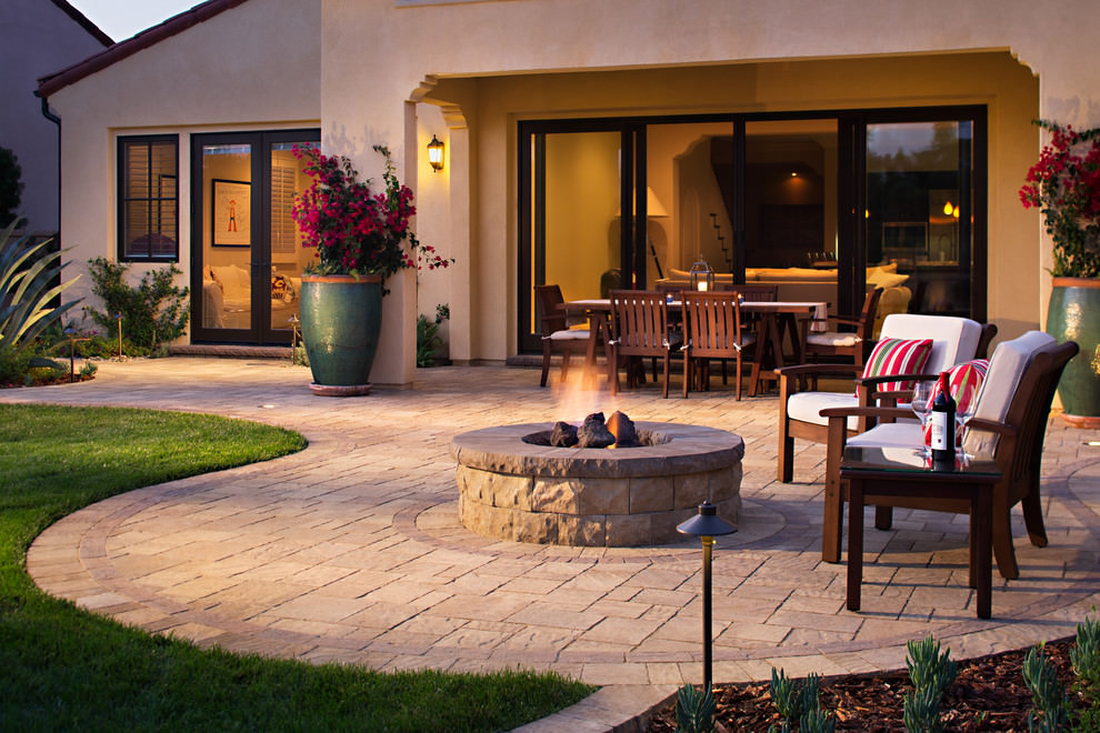 24+ Paver Patio Designs | Garden Designs | Design Trends ... on Backyard Pavers And Grass Ideas id=15078