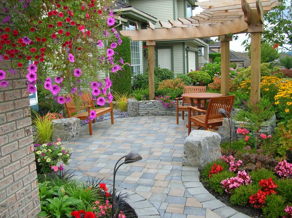 24+ Paver Patio Designs | Garden Designs | Design Trends ... on Backyard Patio Layout id=83022