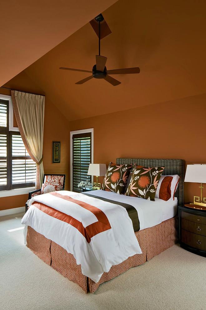 Colour Light Orange Bedroom Walls Novocom Top