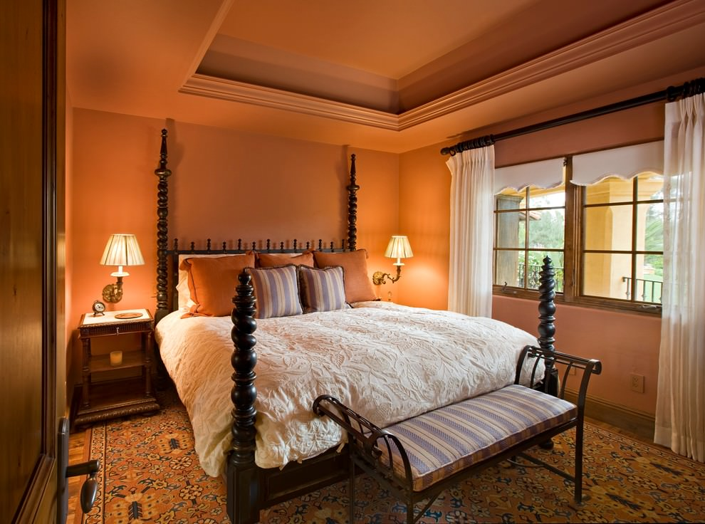24+ Orange Bedroom Designs, Decorating Ideas