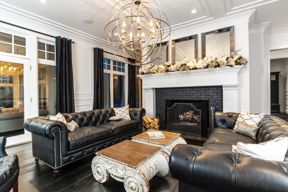 Every item on this page was curated by an elle decor editor. 23+ Black Living Room Couches, Designs, Ideas, Plans ...