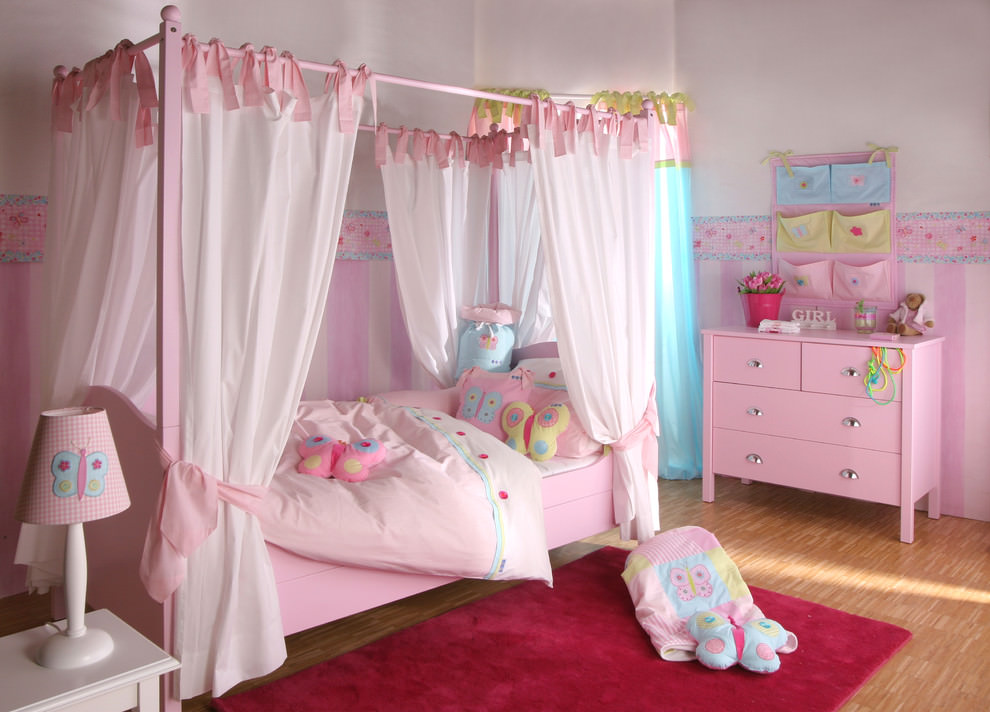 20+ Girly Bedroom Designs, Decorating Ideas | Design ... on Beautiful Room Design For Girl  id=90755