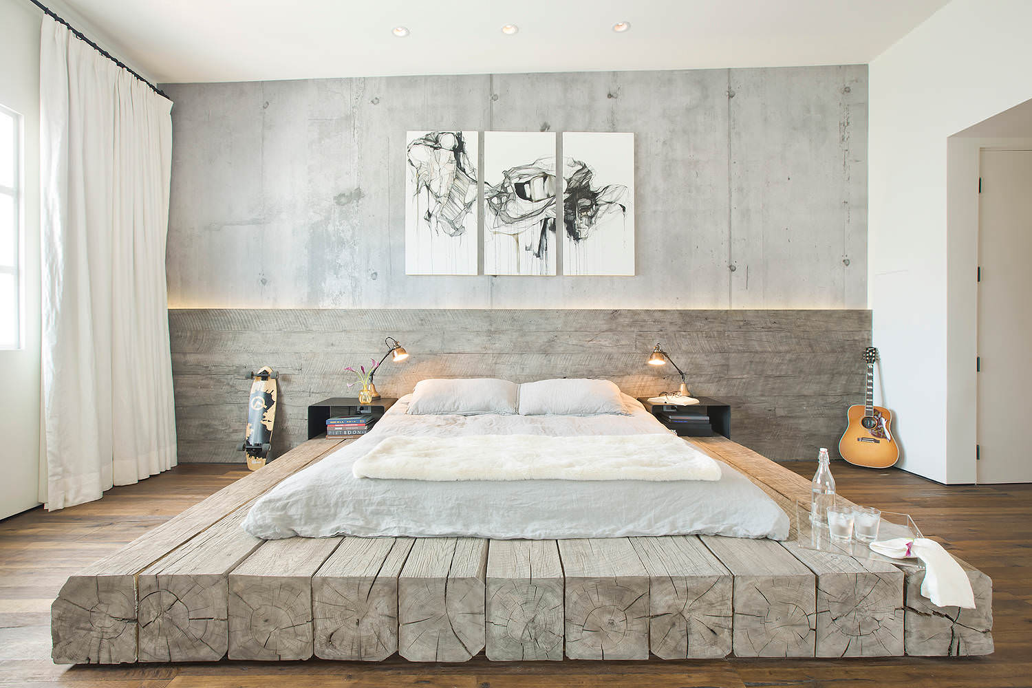 20+ Industrial Bedroom Designs, Decorating Ideas