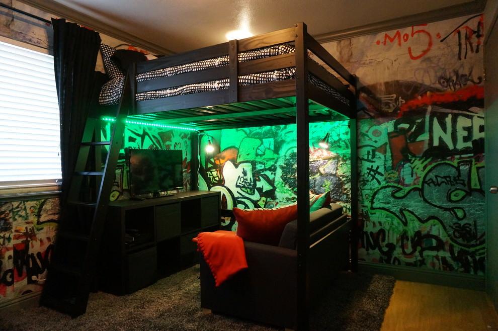 20+ Industrial Bedroom Designs, Decorating Ideas   Design ... on Teenager Style Teenage Room  id=36459