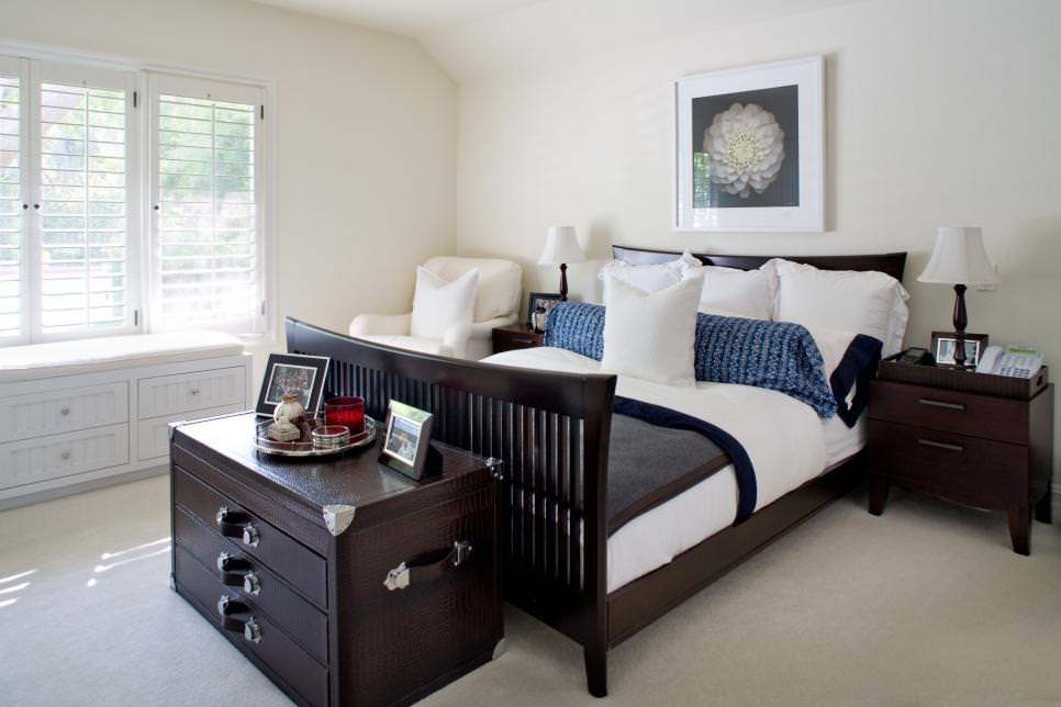 Bedroom Ideas White Walls And Dark Furniture - Novocom.top
