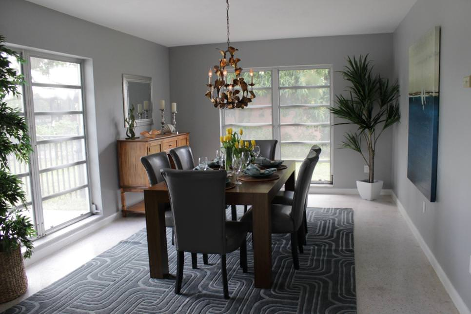 25+ Grey Dining Room Designs, Decorating Ideas   Design ... on Pictures Room Decor  id=35485
