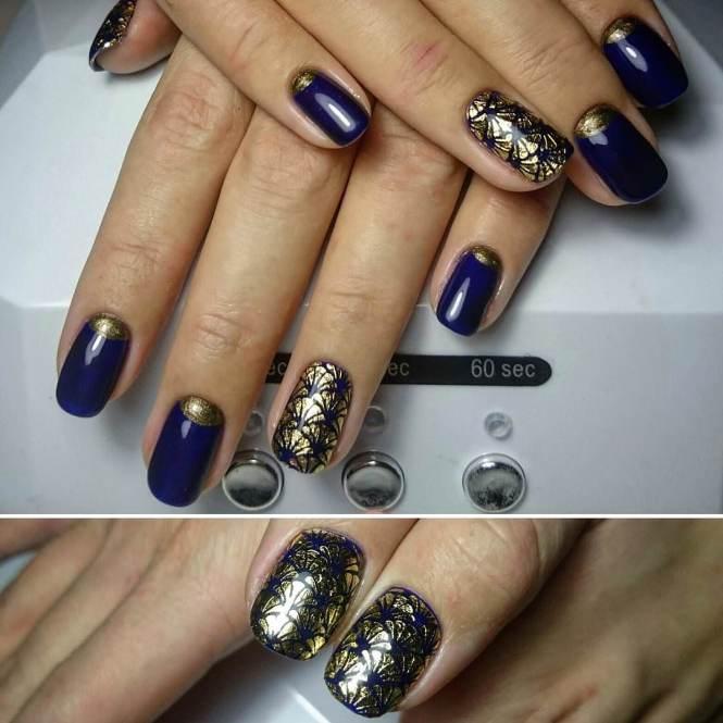 Blue Nail Designs Photo