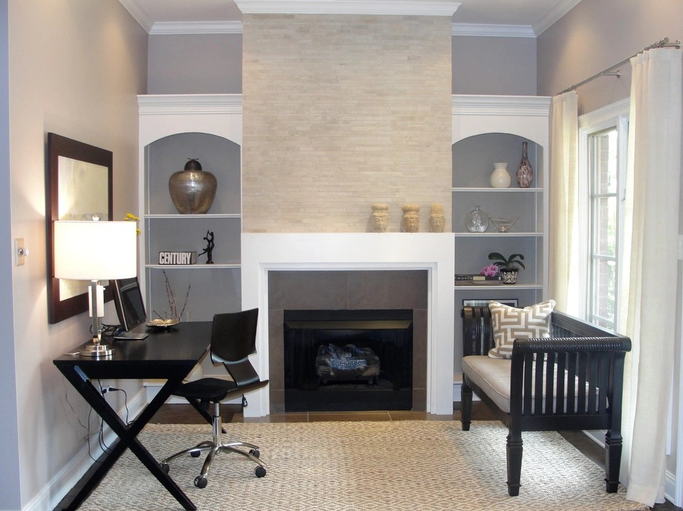 21 Contemporary Gray Home Office Designs Decorating