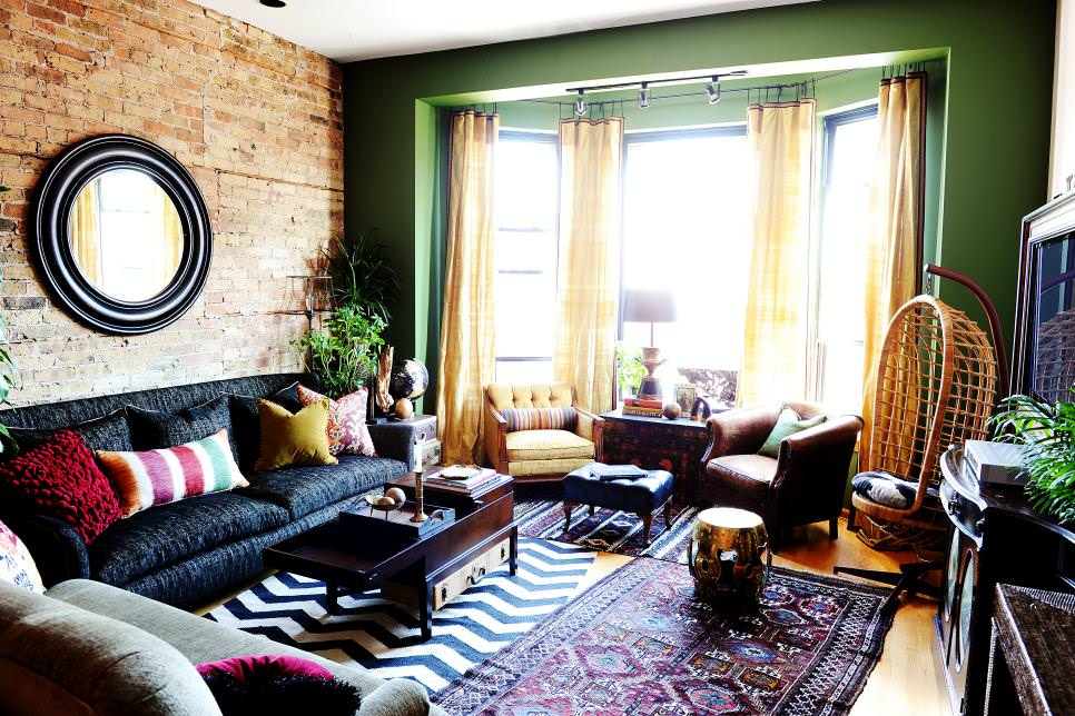 23+ Green Wall Designs, Decor Ideas for Living Room ... on Wall Decor For Living Room  id=46524