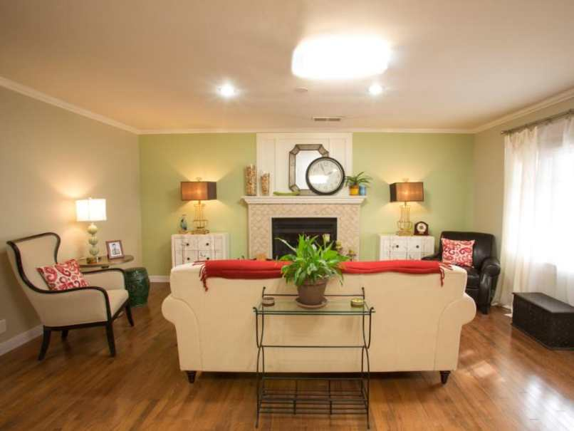 Green Accent Wall Living Room Ideas | 1025theparty.com